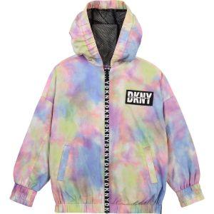 DKNY Multi Coloured Hooded Lightweight Jacket