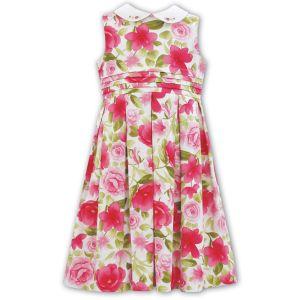 Sarah Louise Girl's Pink Flower Dress