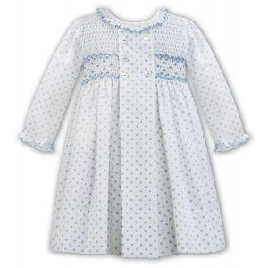 Sarah Louise Girls Ivory Hand Smocked Dress
