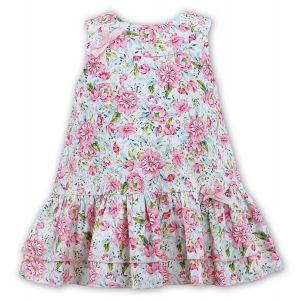 Sarah Louise Girls Pink Floral Dress