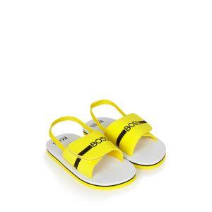 BOSS Kidswear Boys Yellow Logo Sandals