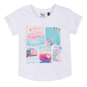 3Pommes Girl's Beach Print T-shirt