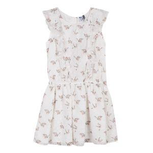 3Pommes Girl's Ivory Chiffon Dress