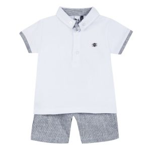 3Pommes Boy's Smart Polo and Shorts Set