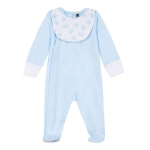 3Pommes Boy's Blue Cotton Babygrow