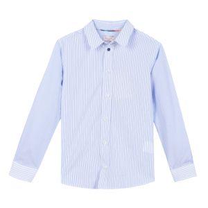 Paul Smith Junior Boy's Blue Striped 'Ravel' Shirt