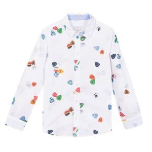 Paul Smith Junior Boy's White 'Ruffin' Shirt