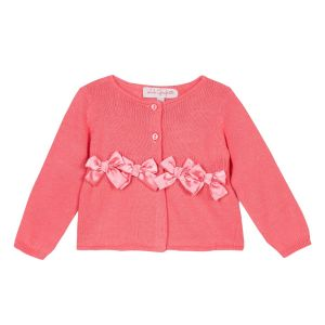 Lili Gaufrette Girl's Sorbet Cardigan with Bows
