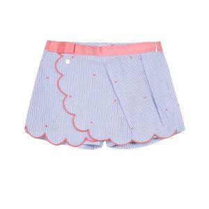 Lili Gaufrette Blue Striped Seersucker Shorts