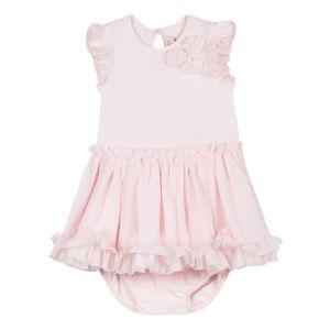 Lili Gaufrette Girl's Pale Pink Dress