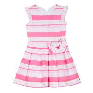 Lili Gaufrette Girl's Pink Striped Dress