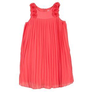 Lili Gaufrette Girl's Coral Pink Chiffon Dress
