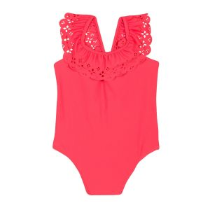 Lili Gaufrette Girl's Coral Pink Swimsuit