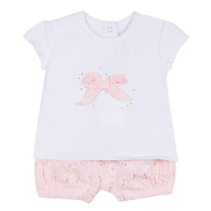 Absorba Baby Girl's Pin k Broderie Anglaise Set