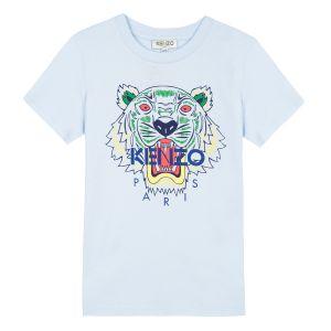 Kenzo Kids Pale Blue Tiger T-Shirt