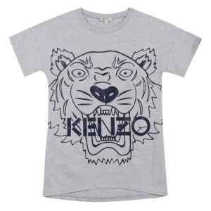 Kenzo Kids Girl's Grey Tiger Jersey Dress