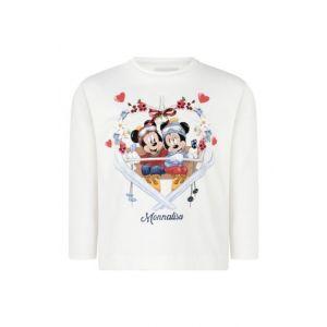 Monnalisa Ivory Cotton Disney Top