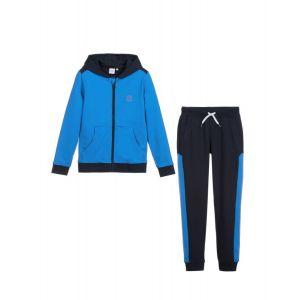 BOSS Kidswear Blue Hooded Logo Tracksuit