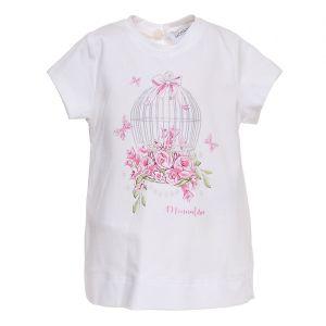 Monnalisa Bebé Girls Bird Cage Tunic Top