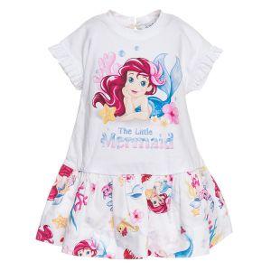 Monnalisa Bebé Girls Little Mermaid Jersey Cotton Dress