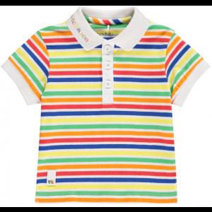 Mitch & Son Boys Cotton Multi Coloured Jersey Polo Shirt