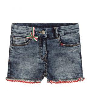 Monnalisa Girls Amore Blue Denim Shorts