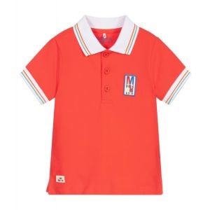 Mitch & Son Boys Red Cotton Carlton Polo Shirt
