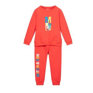 Mitch & Son Boys Red Jersey Candleriggs Tracksuit