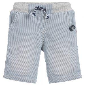 3Pommes Boys Blue Pin Striped Cotton Shorts