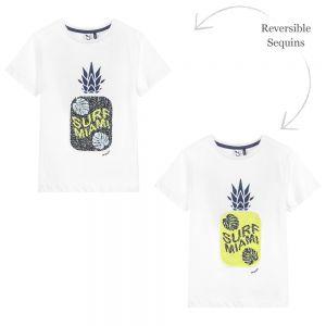 3Pommes Boys White Cotton T-Shirt