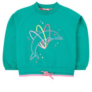 Billieblush Girls Green Dolphin Sweatshirt