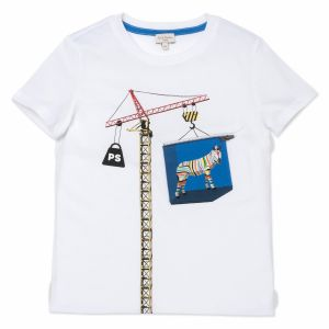 Paul Smith Junior White Crane T-Shirt