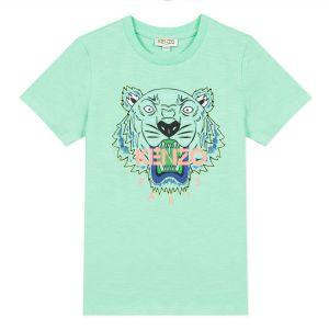 Kenzo Kids Boys Green Iconic Tiger T-Shirt