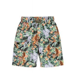 KENZO KIDS Older Boys Green Jungle Swim Shorts