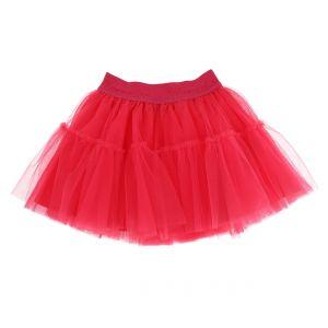 Monnalisa Girls Deep Pink Tulle Tutu Skirt