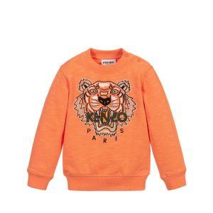 KENZO KIDS Orange Iconic Tiger Sweatshirt