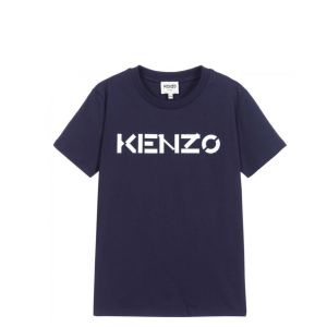 KENZO KIDS Navy Blue Logo T-Shirt