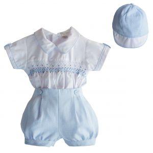 Pretty Originals Blue & White Shorts Set