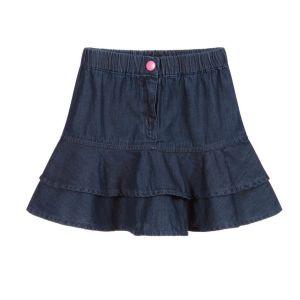 Guess Blue Cotton Chambray Skirt