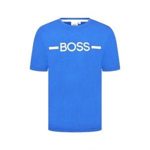 BOSS Kidswear Older Boys Royal Blue Cotton Logo T-Shirt