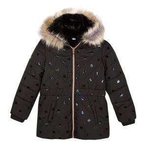 3Pommes Girls Black Spot Coat