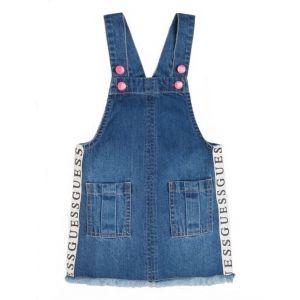 Guess Blue Denim Pinafore Dress