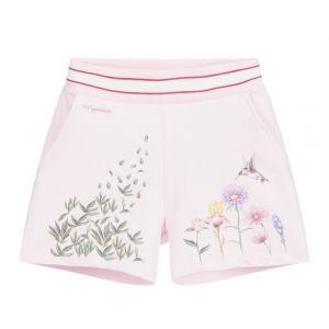 Monnalisa Pink Floral Logo Shorts