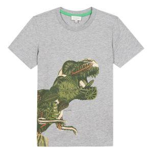 Paul Smith Junior Boys Grey Cotton 'Adriano' Logo T-Shirt