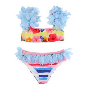 Monnalisa Girls Blue & Pink Bikini