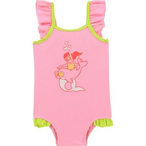 Billieblush Little Girl & Dolphin Print Pink Swimsuit