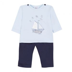 Absorba Boy's Boat T-Shirt and Trouser Set