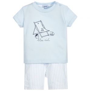 Absorba Baby Boy's Blue T-Shirt And Short Set