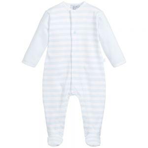 Absorba Baby Boy's Pale Blue Striped Babygrow