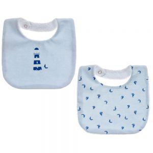 Absorba Baby Boy's Organic Cotton Bibs (2 Pack)